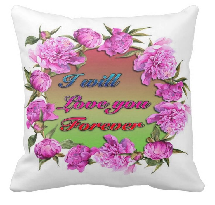 The beautiful roses are a lovely embellishment to the heart-felt words. Strong words, brave and deeply loving words. Now where would you place this special cushion? It carries a deeply personal and intimate message!