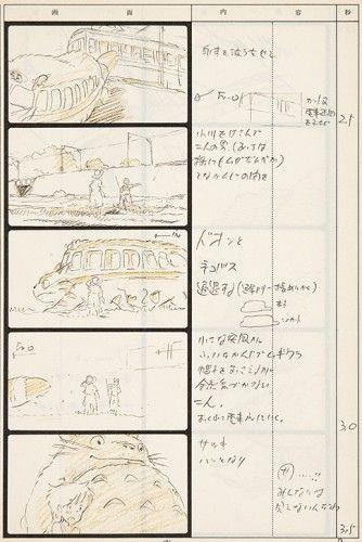 MIYAZAKI, Hayao. Totoro Storyboard 12. [sold] Original Anime print for Studio Ghibli, as published in Japan, 1988.