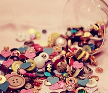 button, gold, multicolor, pink, silver (Full Size)