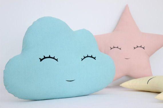 Set Of Cloud Moon And Star Pillows Kids Pillows Decorative