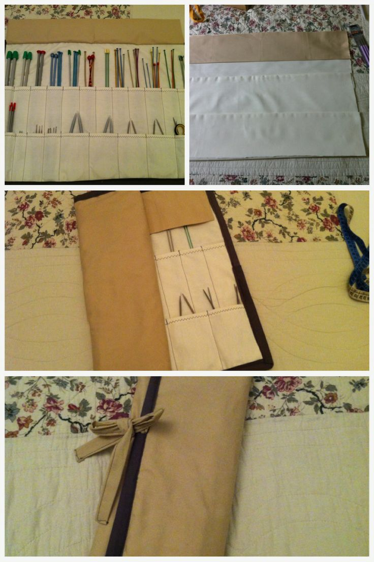 Hand made case for my knitting needles ..