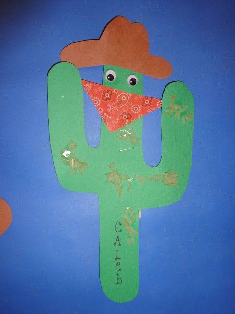Wild West Day Cactus Craft - Terrific Preschool Years
