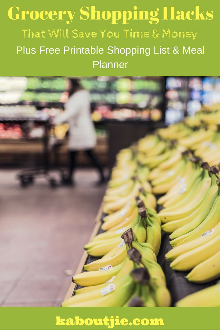 Here are some Epic Grocery Hacks that will save you Time and Money, plus some free printables to help you stay organized.  #GroceryShopping #SaveMoneyGroceries #GroceryHacks #SaveMoney #ShoppingList #MealPlanner  #FreePrintables