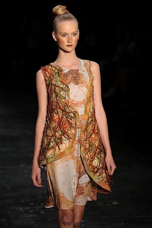 Vestido artesanal Yamamoto