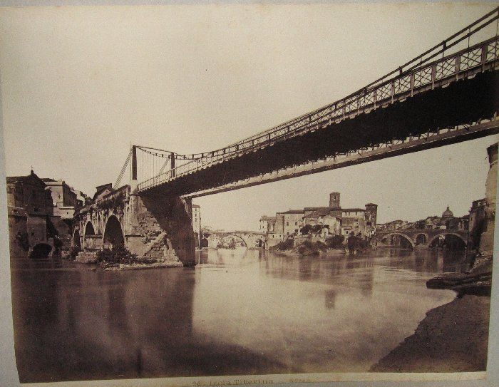 Isola Tiberina(Ponte Rotto) 1880