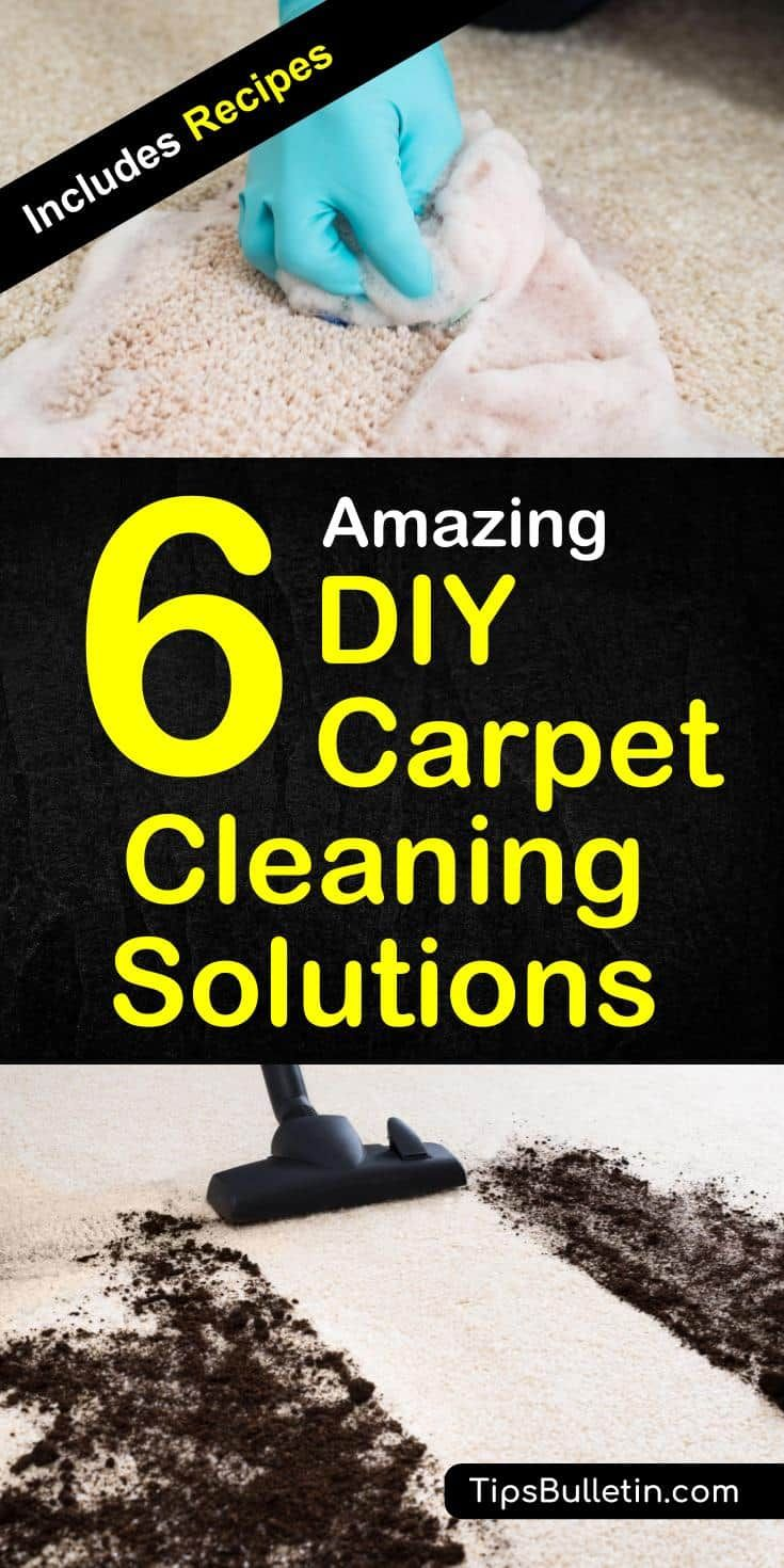 Simple recipes for the best homemade carpet cleaning solution. Including a homemade carpet cleaner machine solution for your Bissel, Rug Doctor, ...