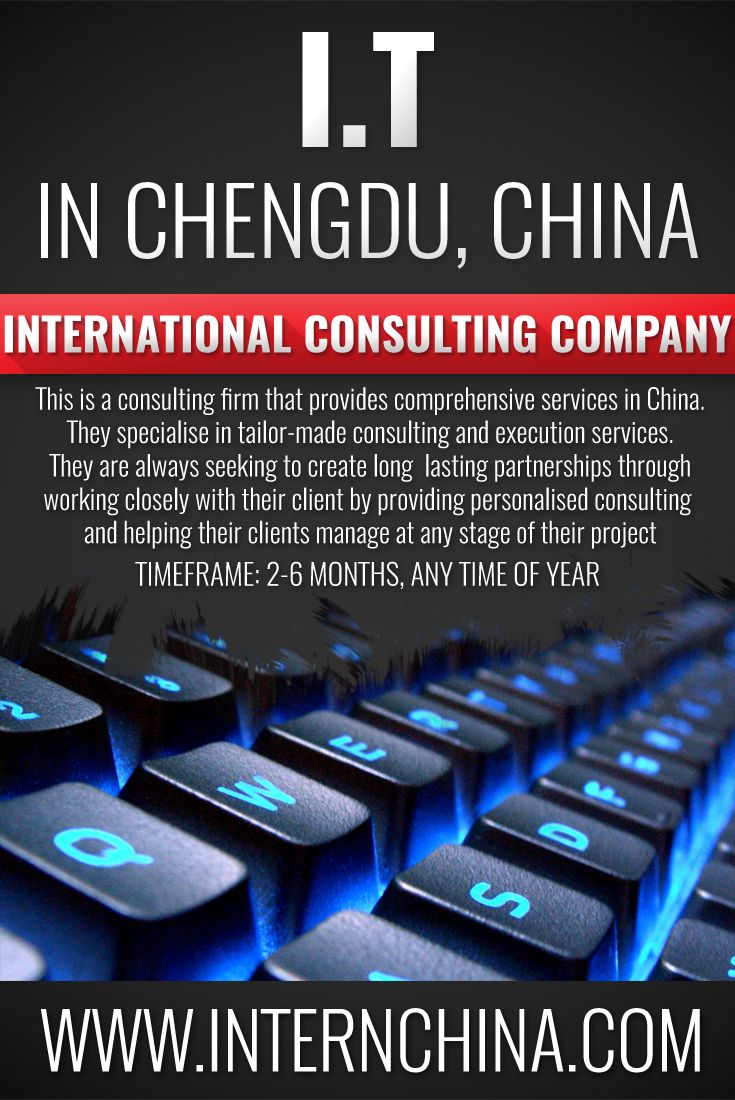 Are you a Wordpress Pro? Interested in an I.T career? Apply today for an internship with our partner company in Chengdu, an International Consulting company. See more: https://internchina.com/international-consulting-company-ref-cdit37/