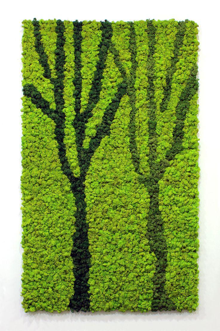 Scandia Moss Custom Art - Each art piece was created by combining multiple 300mm x 300mm aluminum SM Panels. www.scandiamoss.com