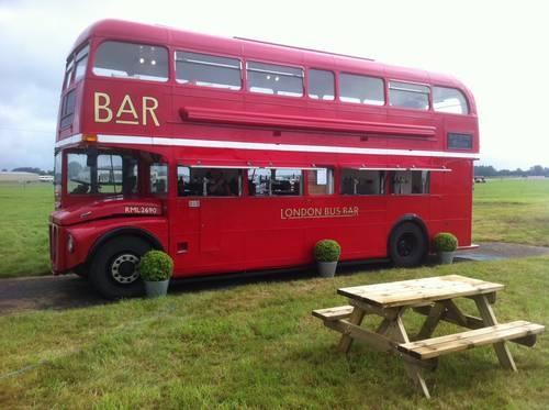 LONDON ROUTEMASTER BUS MOBILE BAR (1967)