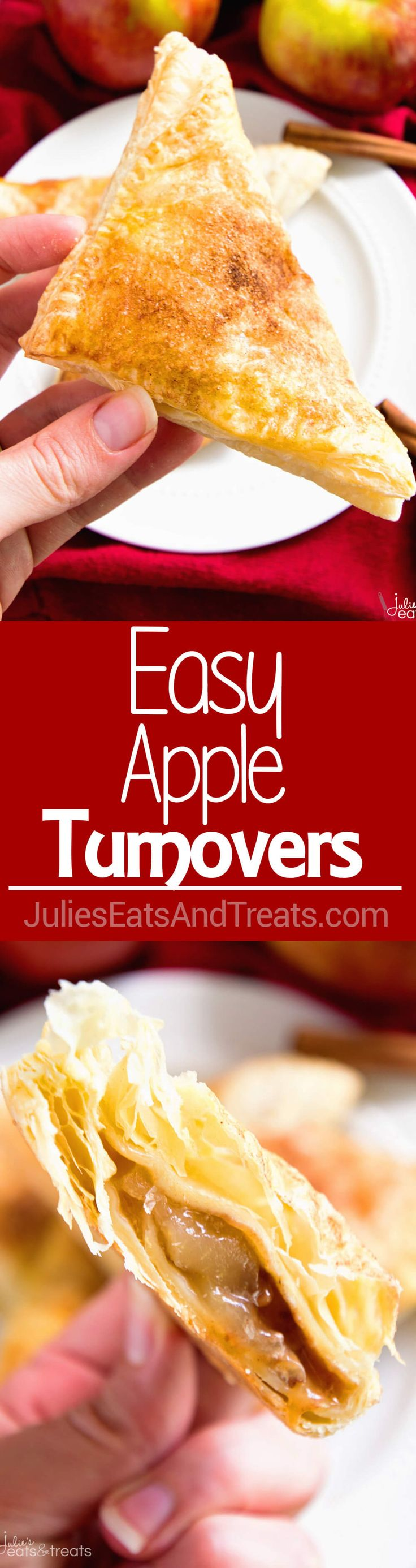 Easy Apple Turnovers ~ This Easy Apple Turnovers Recipe is Perfect for a Quick and Easy Breakfast, Snack or Dessert! ~ http://www.julieseatsandtreats.com