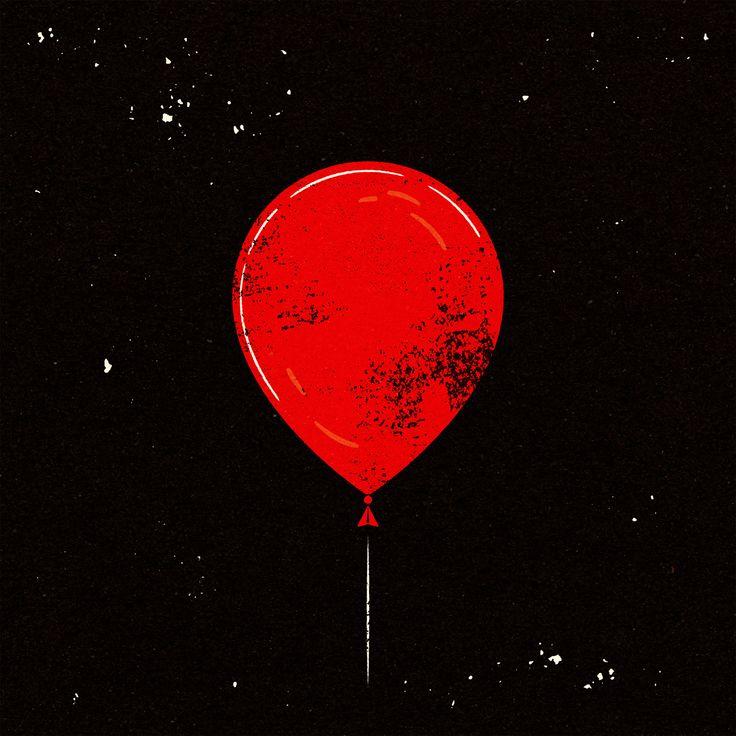 It's A Balloon! From Stephen King's IT. © Alexei Vella #editorial #advertising #conceptual #illustration salzmanart.com