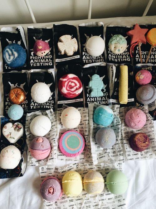 bath bombs #lush