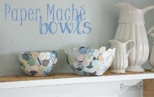 Paper Mache Bowls  •  Free tutorial with pictures on how to make a paper bowl in under 60 minutes