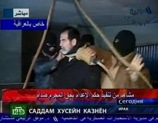 Kuolemaan tuomittu Saddam hirtettiin joulukuun 30. päivänä vuonna 2006.