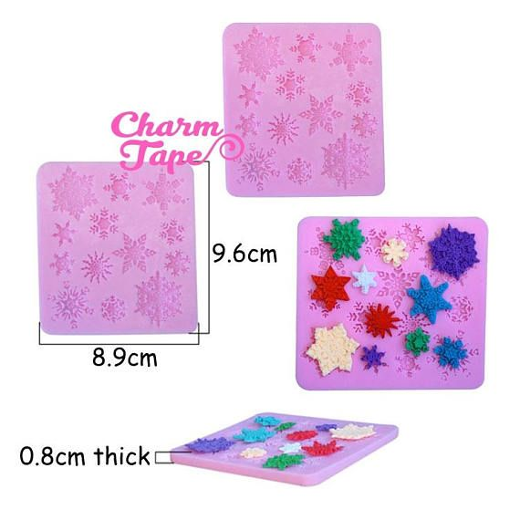 This mold is made of flexible silicone in pink color. You can easily create a magical piece with a mix of glitters and hologram flakes. Use our UV resin series with these range of resin mold. After curing, just pop it out of the mold. Measurements: Mold: approx 9.6 x 8.9 x 0.8 cm Notes