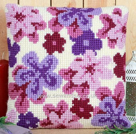 Dreamy Haze Cushion Front Chunky Cross Stitch Kit
