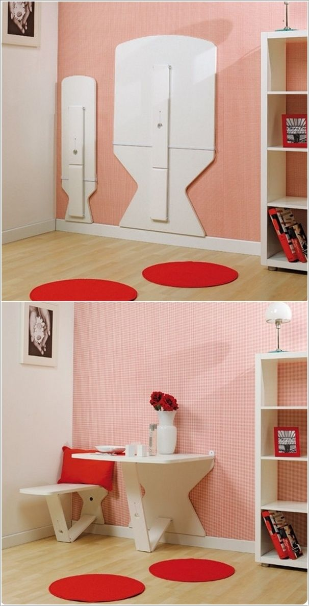 1000 Images About Space Saving Fold Down Up Tables On Pinterest Wall Mount Furniture And