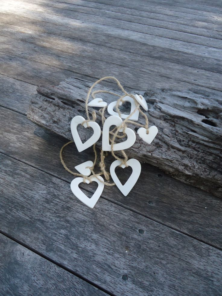 Clay Hanging Heart Garland by MYMIMISTAR on Etsy
