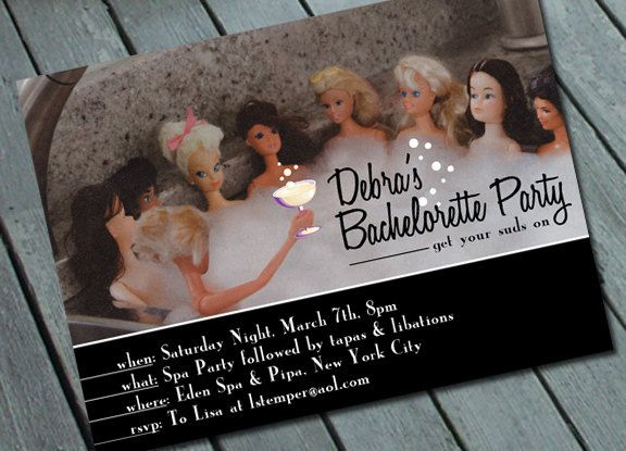 Oh my. Lol Barbie SPA & BACHELORETTE PARTY Invitation Digital by SweetLex, $15.00