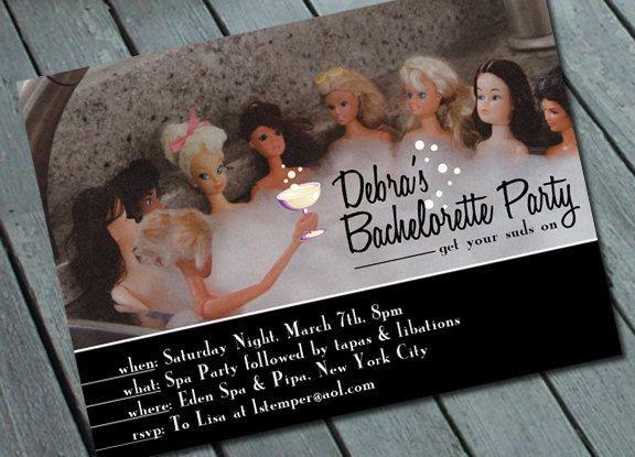 Oh my. Lol Barbie SPA & BACHELORETTE PARTY Invitation Digital by SweetLex, $15.00