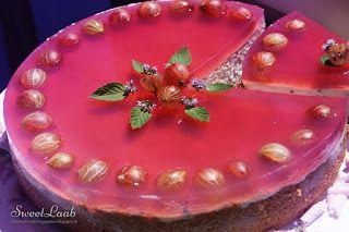 Unbaked gooseberry tart / Nepečená egrešová torta / Gâteau aux groseilles
