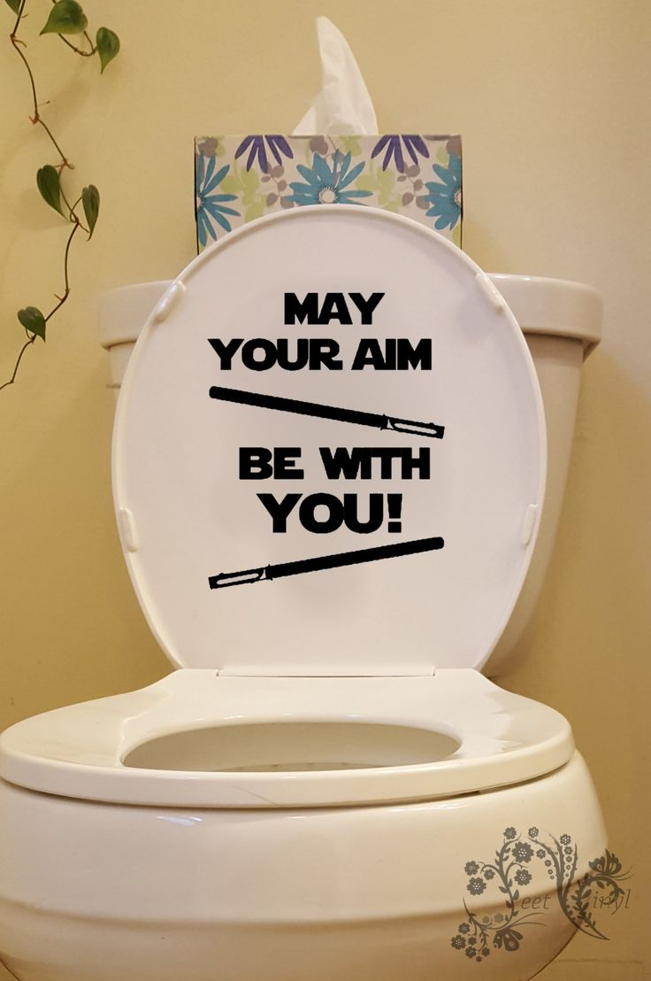 Vinyl wall art bathroom - May Your Aim Be With You Bathroom Wall Decals Wall Decal Wall Vinyl