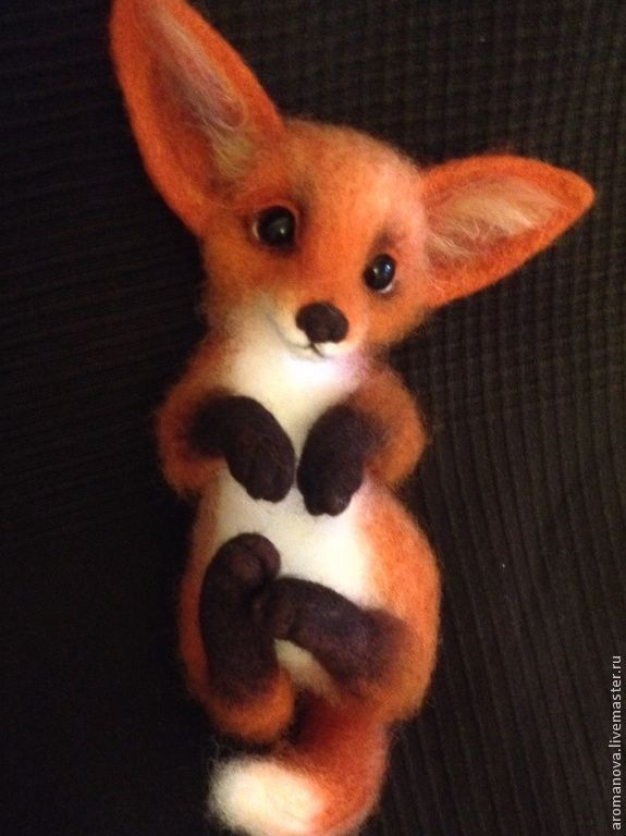 Купить Лисичка (нашла дом) - рыжий, лис, лиса, лисичка, лисица, войлочная игрушка, лисенок