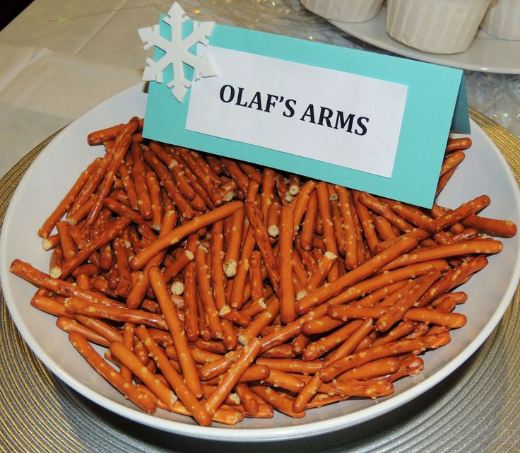 Frozen Birthday Party. Picture 8 of 15. Frozen Menu. Olaf's Arms. Gluten Free.