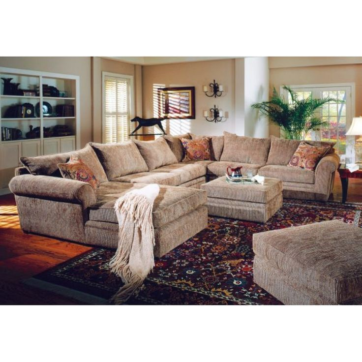 Beige Chenille Fabric Westwood Sectional Sofa Couch with Coffee Table Ottoman by Coaster Home Furnishings  sc 1 st  Pinterest : chenille sofa with chaise - Sectionals, Sofas & Couches