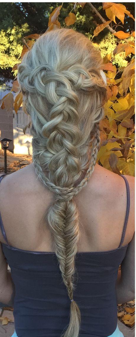 Artful braided blonde vs simple pinned foxy 5