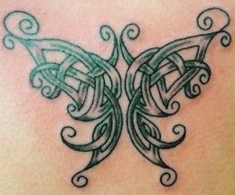 nice Meaningful Tattoos Ideas – Celtic Butterfly Tattoos