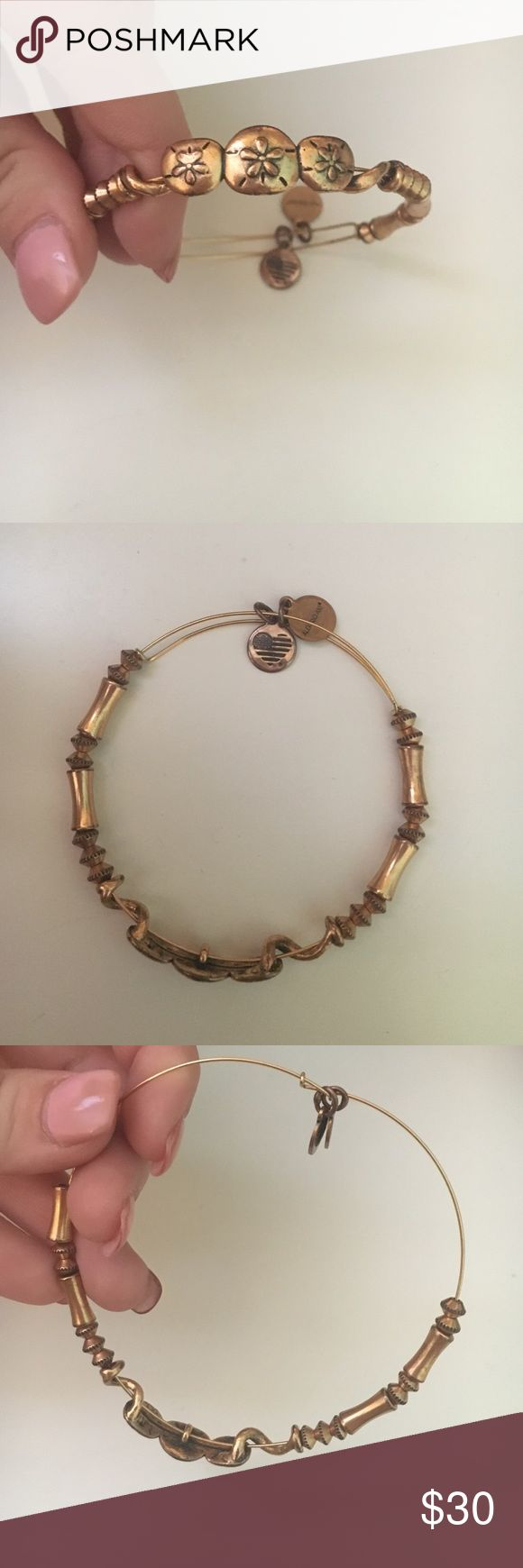 Sand dollar Alex and ani bangle, worn once Gold sand dollar Alex and ani bracelet, worn once nothing wrong with it. Paid full price Alex & Ani Jewelry Bracelets
