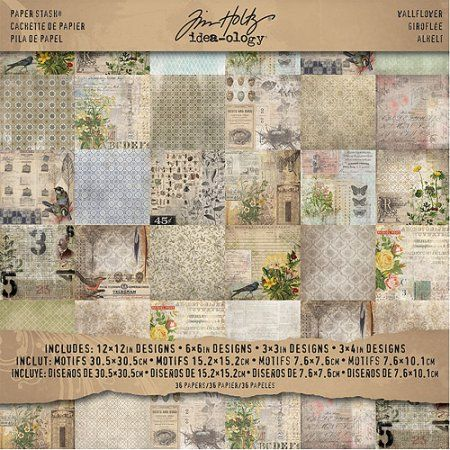 Assortiment de 100 12 x 12 Scrapbook Paper /& Card