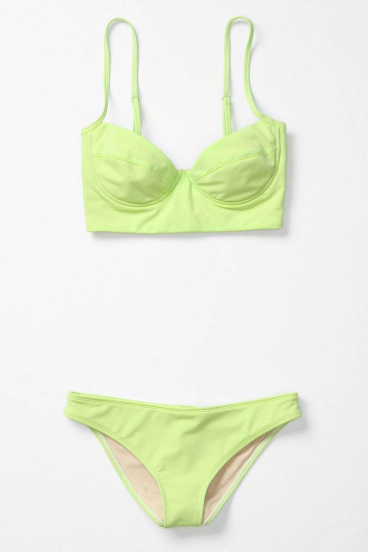 fluro throwback bikini