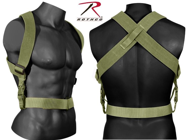 Olive Drab Tactical Combat Suspenders - Rothco Adjustable Gear Support Suspender