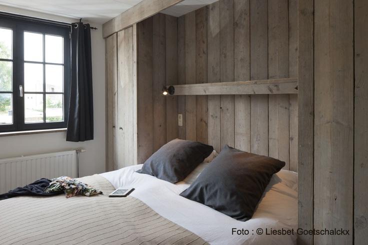 slaapkamer met hout | vakantiehuis voor 12 tot 14 personen in Knokke