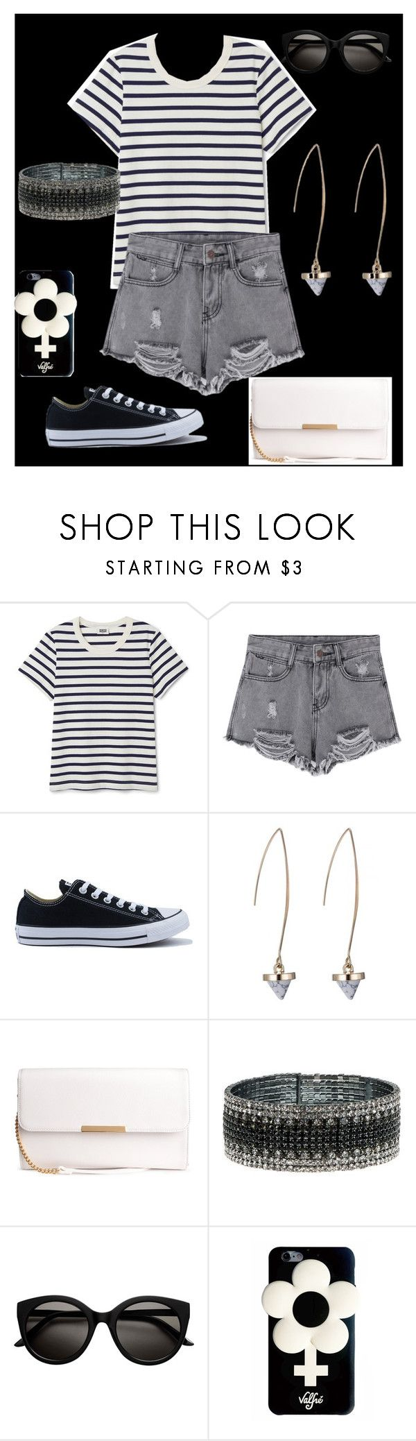 """""""Untitled #867"""" by ununiformedstyles ❤ liked on Polyvore featuring Converse, Anne Klein and Valfré"""