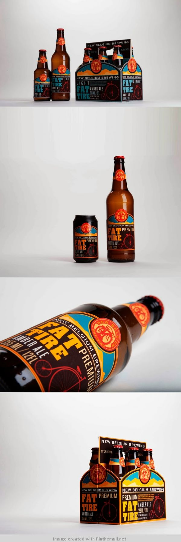 Fat Tire Beer Redesigned (Student Project) Study in #typography #packaging PD