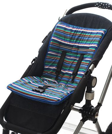 Look at this #zulilyfind! Maliblue Stripe Cush 'n' Go Stroller Cushion #zulilyfinds