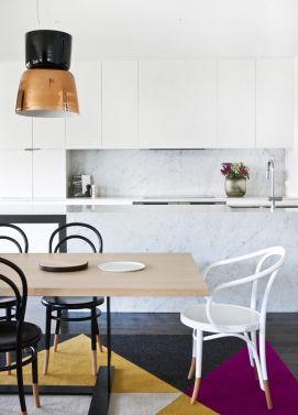 white and marble kitchen by doherty lynch