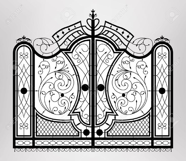92 best porti images on Pinterest | Iron gates, Driveway gate and ...