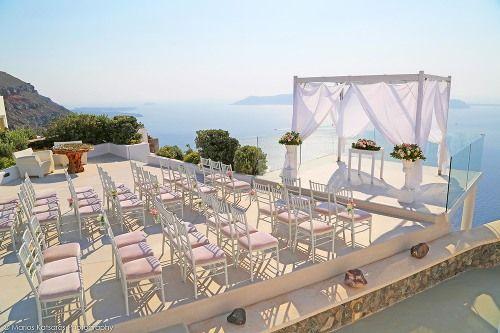 wedding ceremony, Gazebo in santorini, rocabella