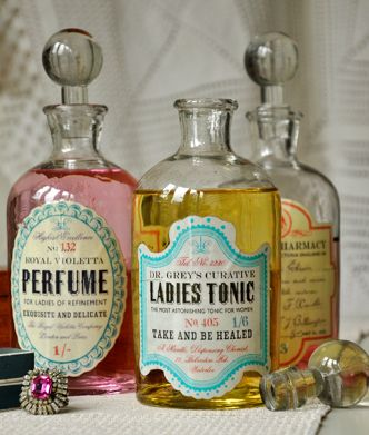 Glass Apothecary Bottles from Dotcomgiftshop