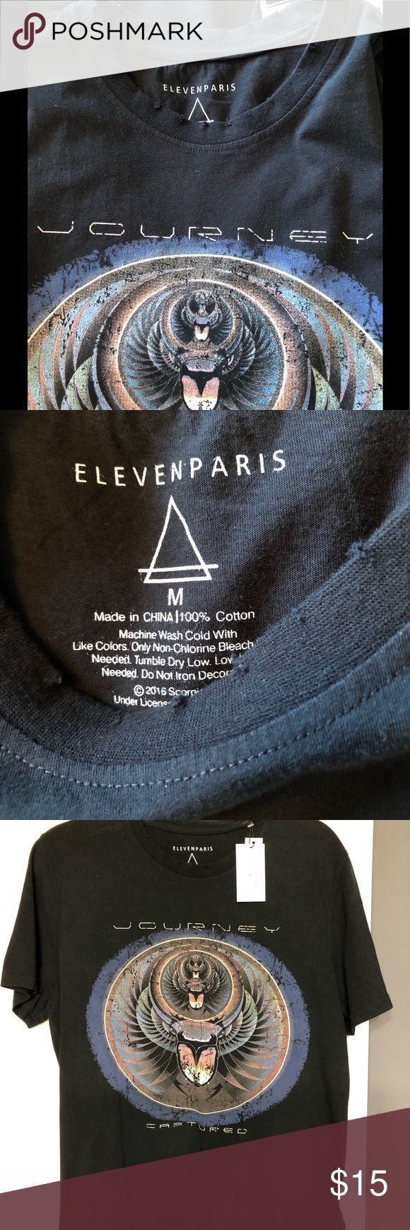 Journey concert band tour shirt M Cool design Journey shirt. New with tags Eleven Paris Shirts Tees - Short Sleeve