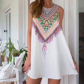 Vestido de Verano Yucheer para Dama-Blanco