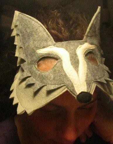 Sentivo maschera lupo grigio