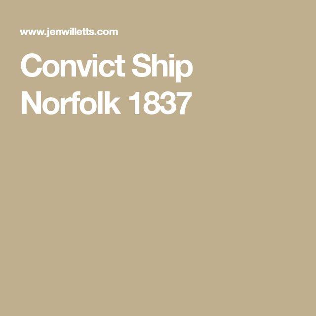 Convict Ship Norfolk 1837