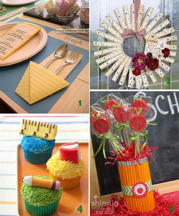 back to school: Teacher Gifts, Teacher Appreciation, Back To Schools, Schools Parties, Amy Atlas, Gifts Ideas, Schools Ideas, Ruler Wreath, Schools Crafts