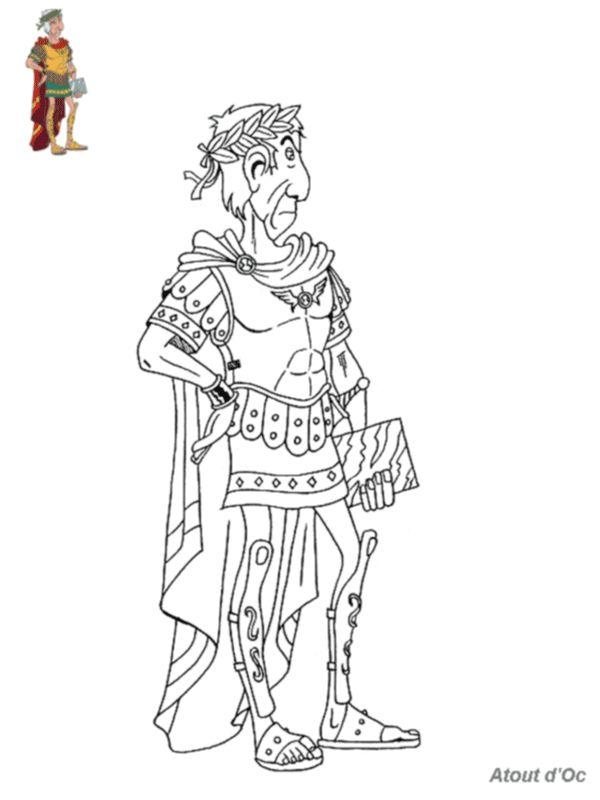 bd asterix coloriage jules cesar | Coloriage