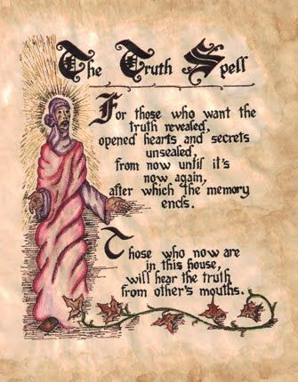 the truth spell for those who want the truth revealed opened hearts ...